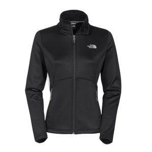 The North Face Agave Black Full Zip Jacket Medium